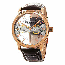 Stuhrling Original Men's 680.02 Legacy Mechanical Hand Wind Brown Leather Watch