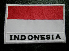 REPUBLIC OF INDONESIA INDONESIAN NATIONAL FLAG Sew on Patch Free Postage