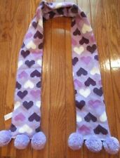 Girls Sonoma From Kohls Scarf Size M/L Purple & White With Hearts Girl's