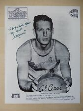 "Al Cervi Autographed 8"" X 10"" Photograph with Bio Sheet - Hall Of Famer"