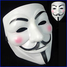 Anonymous V per Vendetta Guy Fawkes Costume Halloween Maschera UK Venditore