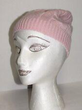 RALPH LAUREN LIGHT Pink Viscose Blend Beanie Hat Cap One Size