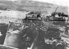 8x6 Gloss Photo ww8A7 Normandy D-Day Omaha Beach Vehicle s Detruits