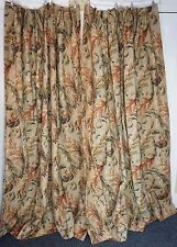 1 Pr Drapes Custom Made ACANTHUS LEAVES Pattern Thermal Lined Hist Color QUALITY