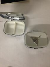 Vulcan Bomber WE-VBKR English Pewter Emblem on Rectangular Travel Metal Pill Box
