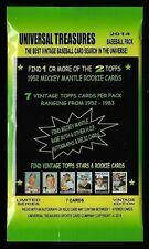 1 BASEBALL PACK FROM 2014 BOX , 1952 TOPPS MICKEY MANTLE MAYS RYAN ROSE CARDS ?