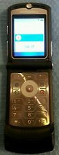 Motorola RAZR V3 GSM Unlocked - Black- Quad band Cellular Phone - tested
