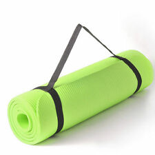 1.5cm Thick Green Yoga Mat  Exercise Workout Pilates Gym Mats Non Slip Sit Ups