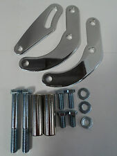 BBC CHROME SWP POWER STEERING PUMP BRACKET FITS SAGINAW GM A CAN BB CHEVY 454