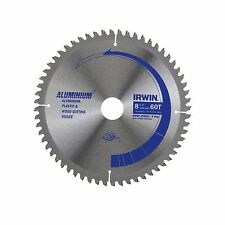 Irwin CIRCULAR SAW BLADE 210mm 60T Triple Chip Ground, Steel Body USA Brand