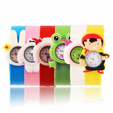 Fashion Animal Slap Snap On Silicone Wrist Watch Boys Girls Children Kids OV