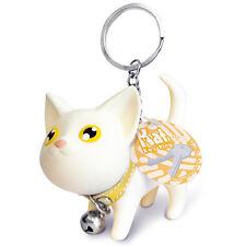 White Cat Kitten Keychain Keyring Bell Toy Lover Key Chain Rings For Handbag