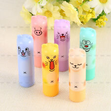2PCS Animal Cartoon Moisturize Makeup Cosmetic Lipstick Lip Balm Women Men Kids