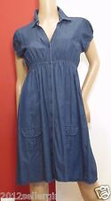 L.E.I SUNDRESSES by TAYLOR SWIFT BLUE JEAN BUTTON BABYDOLL DENIM DRESS SZ XS-S