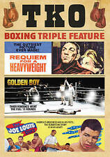 TKO Boxing Triple Feature: Requiem for a Heavyweight/Golden Boy DVD New
