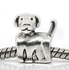 Puppy Dog Family Pet Animal Gift Bead fits Silver European Style Charm Bracelets