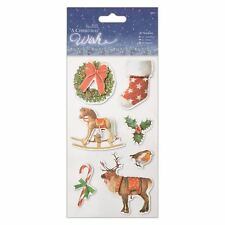 Docrafts papermania 3D autocollants (7pcs) - a christmas wish
