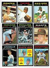 1971 TOPPS  BASEBALL EX to NRMT COMPLETE YOUR SET - U PICK ANY TEN