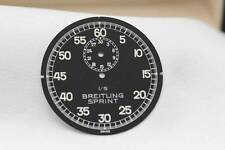 Originale Breitling Sprint cronometro dial Black 1 / 5th 195 A mm-NEW OLD STOCK
