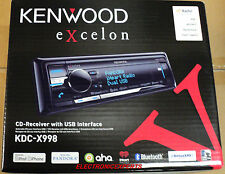 KENWOOD KDC-X998 BLUETOOTH CD CAR STEREO DRIVE HD EQ PANDORA iHEART USB SAT NEW