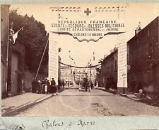 B005 Provenance Album photo Paul Gers albumen Chalons sur Marne Blessé Militaire