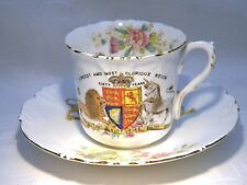 QUEEN VICTORIA DIAMOND JUBILEE WILEMAN SHELLEY CUP & SAUCER FOLEY SHAPE