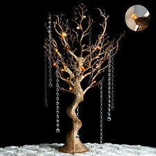 "30"" tall LED Lighted GOLD MANZANITA TREE Wedding Party CENTERPIECES Decorations"