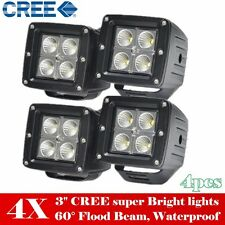 """4X 3inch LED Work Light Off Road Jeep SUV ATV UTE PODs Cube Truck Driving Fog 3"""""""