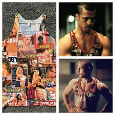 Tyler Durden Fight Club Rare Black Sugar TAnk Top Brad Pitt Hustler Op 523 MED