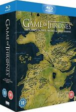 GAME OF THRONES Complete HBO TV Series Blu Ray Box Set Collection Season 1 2 3