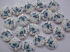 30 x BLUE BUTTERFLY 2 HOLE WOODEN 18mm SEWING BUTTONS, SCRAPBOOKING, CRAFT ETC.,