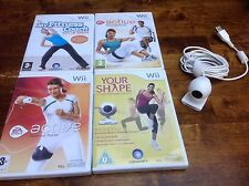 Nintendo Wii Fitness Bundle x4 Active Coach your Shape More Workouts + Camera