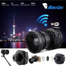 AMKOV AMK-OX5 Wifi Full HD 1080P 20MP 120° Digital Camera Camcorder Q3W1