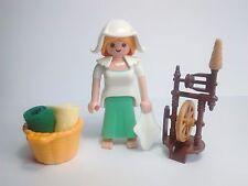 PLAYMOBIL Pastora, Costurera, Belén, Navidad, Christmas, HIlandera Medieval