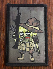 SpongeBob Squarepants Operator AR15 Morale Patch Tactical ARMY Hook Military