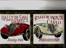 VINTAGE RALLY CARS   WALLPAPER BORDER  AW0618B