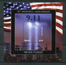 Nevis 2016 neuf sans charnière 11th 15th septembre memorial 1v s/s new york architecture timbres