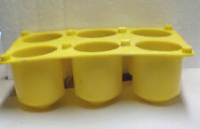USED YALEY  6 CAVITY  PLASTIC VOTIVE CANDLE MOLD WITH WICKING