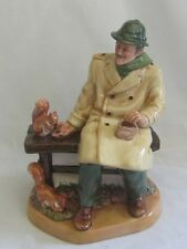 Royal Doulton Lunch Time Figurine HN 2485 Old Man Feeding the Squirrels