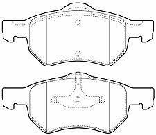 Chrysler Voyager/Grand Voyager 01-08 Front Brake Pads
