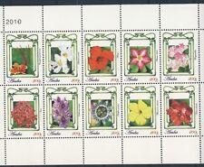 ARUBA 2010 SERIE ++ BLOEMEN FLOWERS FLEUR ++  MNH POSTFRIS **