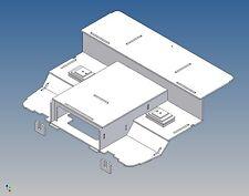 SLK - Fahrerhausboden für Tamiya Scania R470/R620 (M 1:14) - mit Sitzkonsolen
