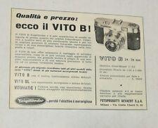Pubblicità vintage 1957 VOIGTLANDER VITO B PHOTO FOTO old advertising publicitè
