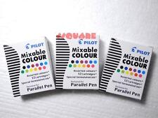 36 Cartridges Pilot Special Formulated Ink For Parallel Pen, 12 Assorted Colours