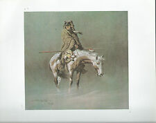 """Frank McCarthy,   """"The Lookout"""" Print of a Native American Indian-Western Art"""