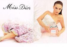 PUBLICITE ADVERTISING 094  2013  DIOR   NATALIE PORTMAN  parfum MISS ( 2 pages)