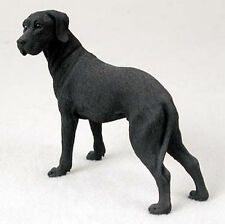 Great Dane Hand Painted Collectible Dog Figurine Black Uncropped