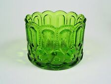 L.E. Smith Glass - VERY RARE - 6 inch - Emerald Green Jardinaire Planter