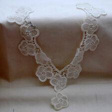 5 Venise Lace Collar Patch APPLIQUE Motif White 30cm
