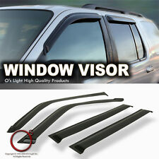 JEEP LIBERTY 02-07 SMOKE WINDOW VENTS SUN SHADE ACRYLIC RAIN GUARD VISORS 4PCS